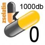 Üres Zselatin kapszula színes 0  1000db